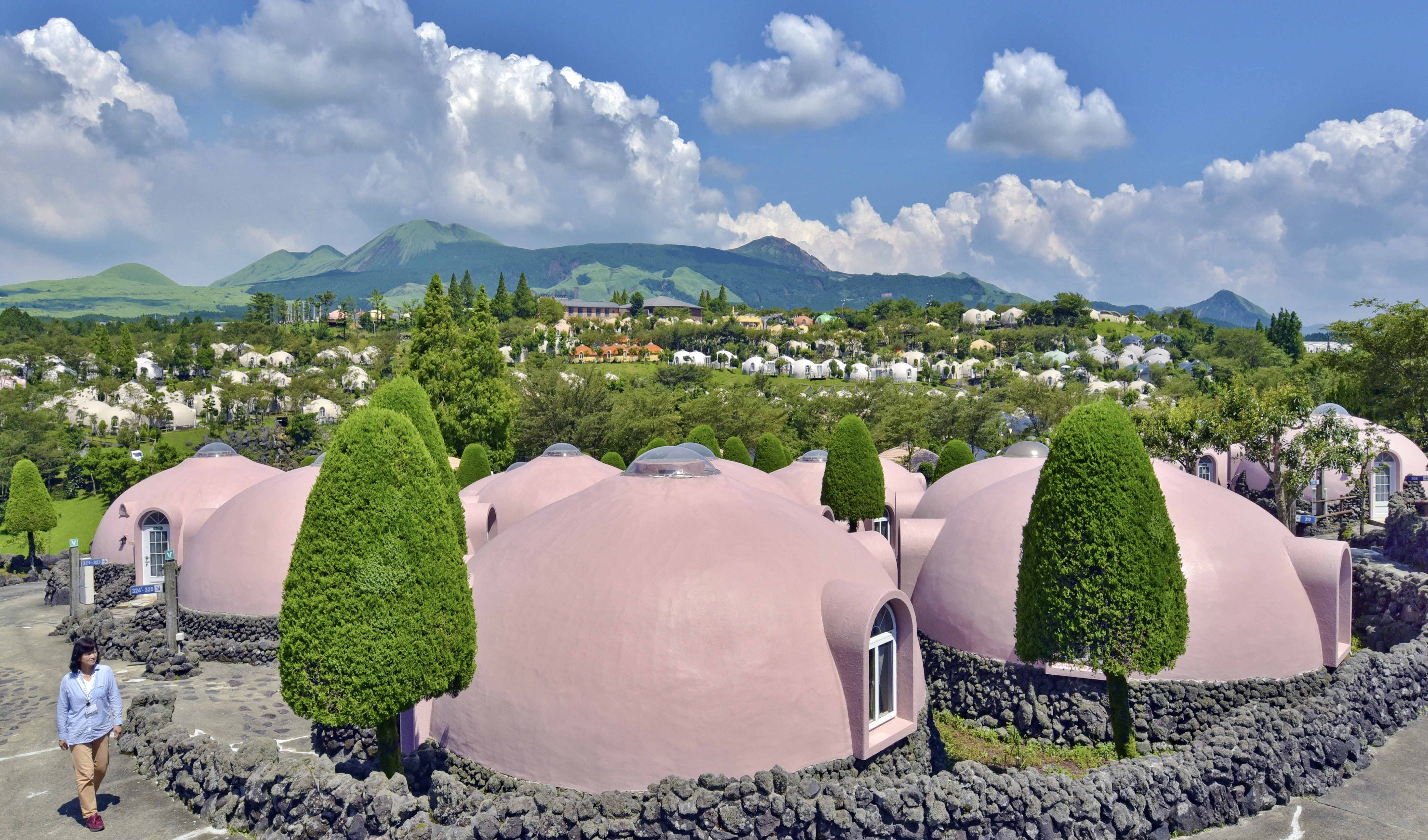 News Manju Dumpling Shaped Polyurethane Foam Houses