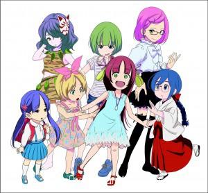 Characters of Komekami! Seven Sister Goddesses (Source: Daily Plan Net.)