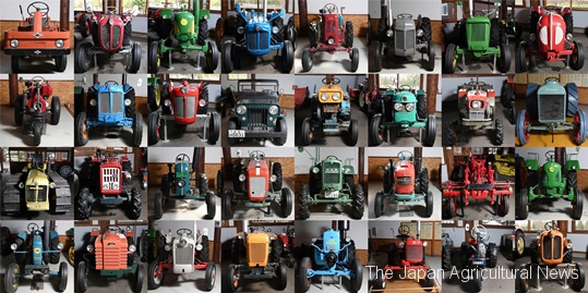 Some of the tractors on display