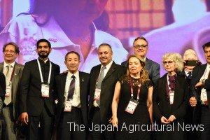 JA-ZENCHU  Chairman Nakaya was elected as an ICA board member. (third from the left)