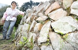 It took almost ten years for the Fukushima family to build all the stone walls.