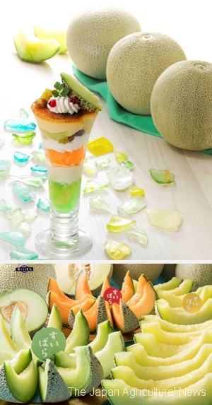 Fresh Melon Brulee Parfait of Royal Host (Photo provided by Royal Host)
