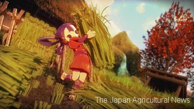 Sakuna: Of Rice and Ruin is an action role-playing game for you to enjoy authentic rice-growing simulation. (Image provided by the Shinmei Group)